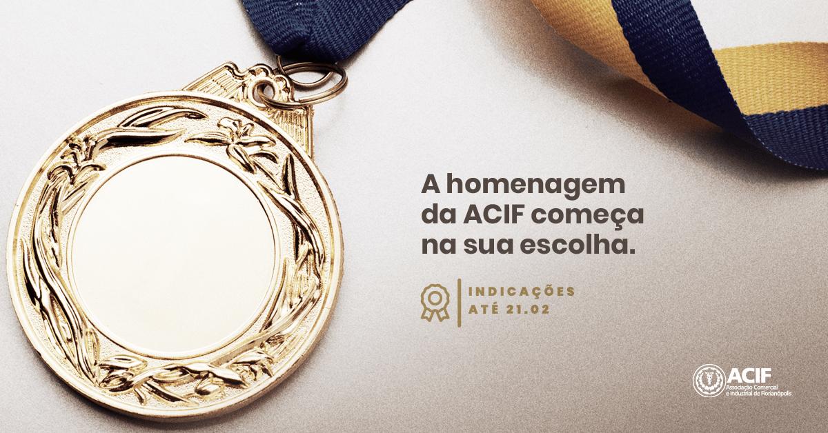 Indicação de Medalhas ACIF, participe!