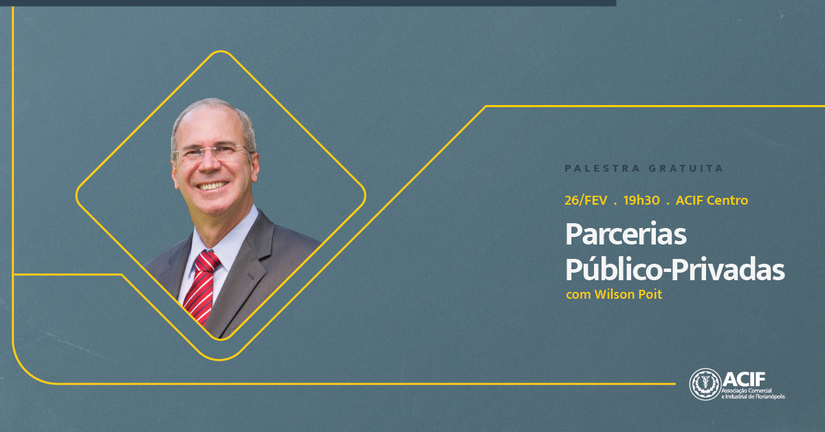 Wilson Poit ministra palestra gratuita sobre Parcerias Público-Privadas
