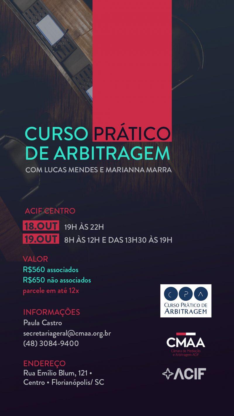 CMAA – CURSO PRÁTICO DE ARBITRAGEM