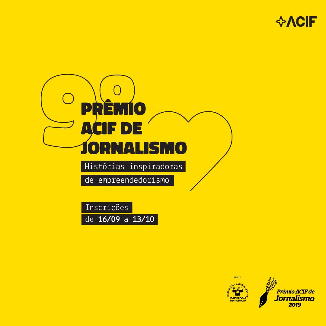 Abrem Inscrições do Prêmio ACIF de Jornalismo