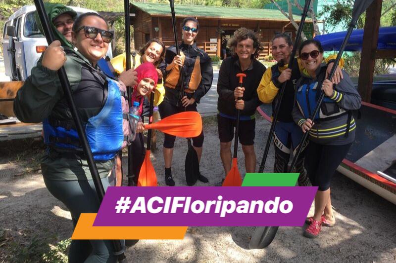 #ACIFloripando Trilha Aquática