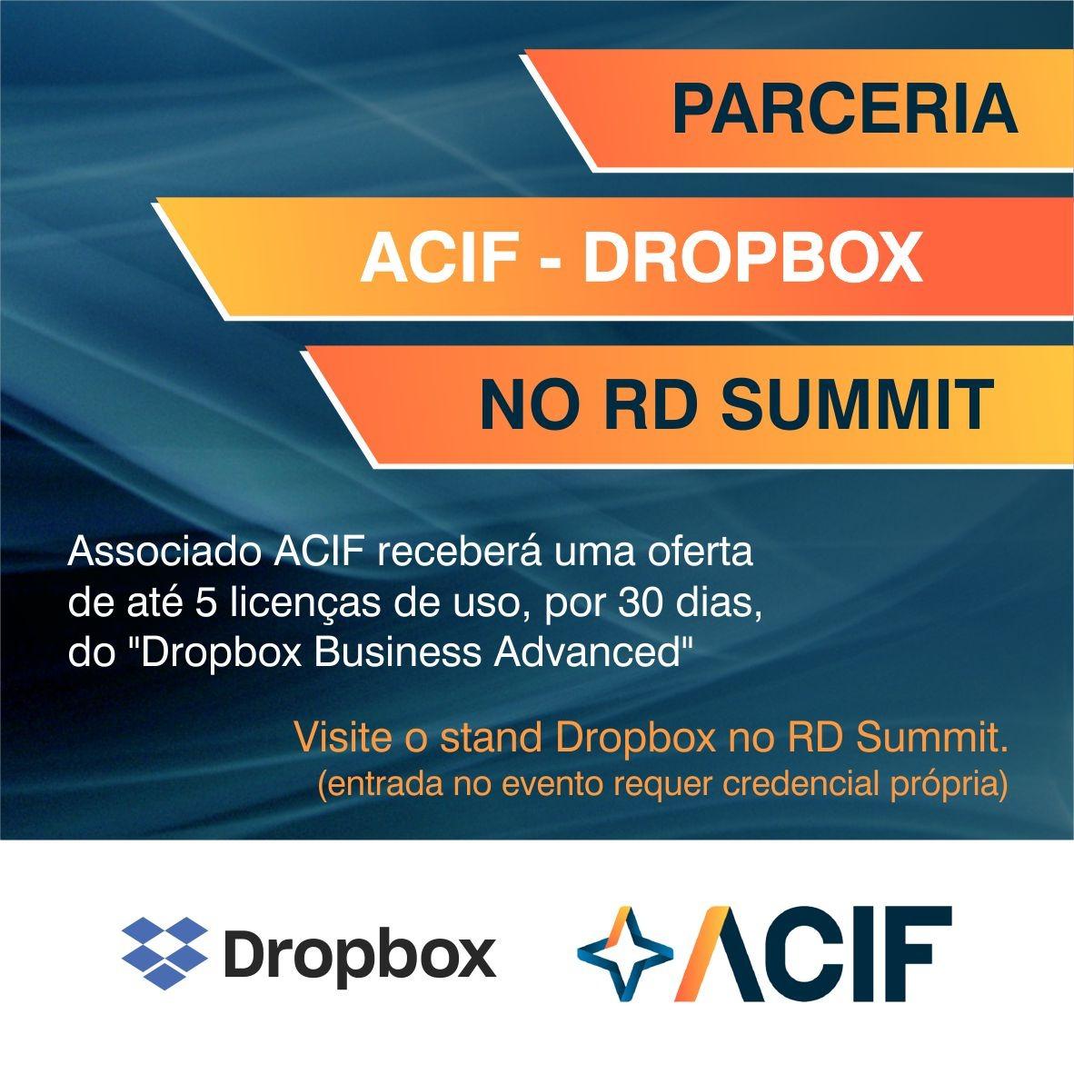 ACIF Convida para o stand da Dropbox no RD Summit 2019