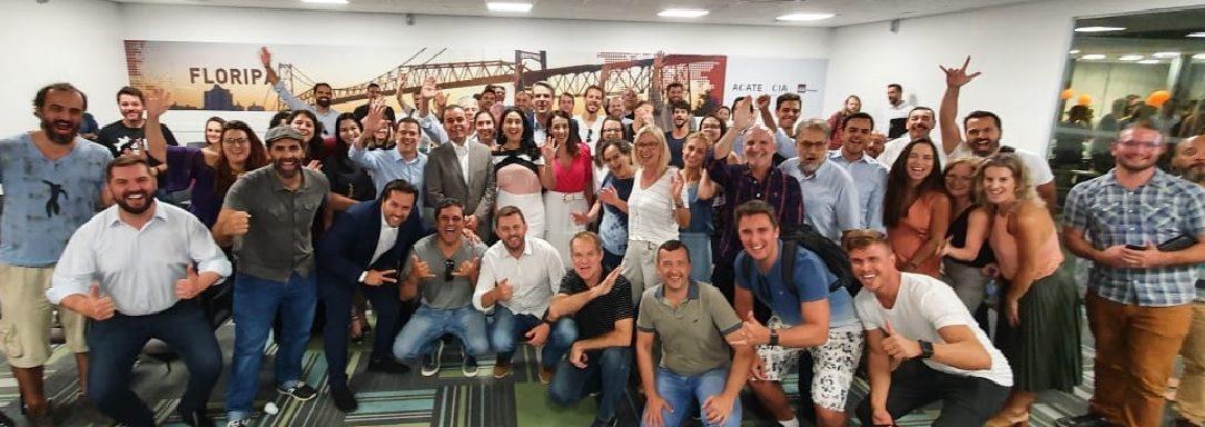 Diretor do Web Summit Lisboa conhece  ecossistema de inovação de Florianópolis