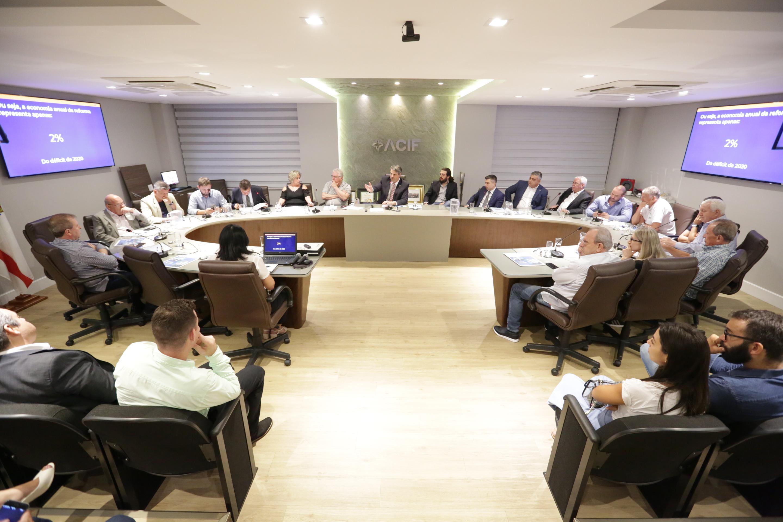 ACIF reúne deputados e entidades para discussão da Reforma da Previdência de Santa Catarina