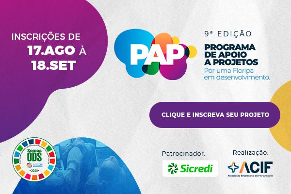 Começam as inscrições para o Programa de Apoio a Projetos 2020 (PAP)